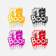 realistic design element: boo
