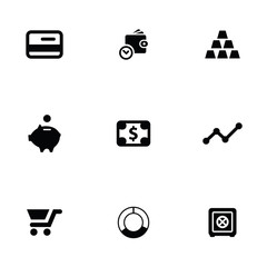 finance 9 icons set