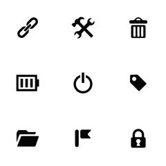 universal 9 icons set