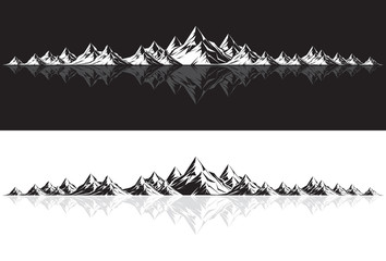 Mountain Range with Reflection