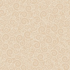 beige  vector seamless pattern curl