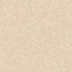 beige  vector seamless pattern curl