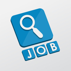 job and search sign, flat design blocks