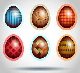 Set Easter egg illustration.