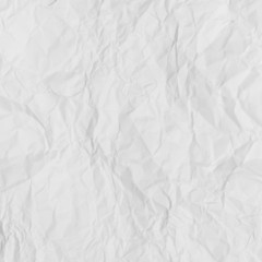 White crumpled paper for abstract background