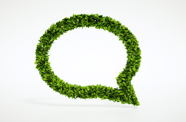 Ecology talking bubble symbol
