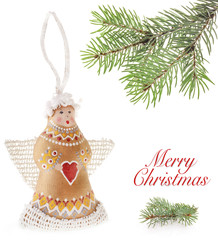 Christmas angel hand-painted Ukrainian artists