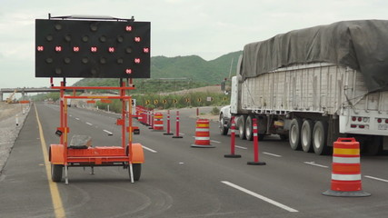 Highway Detour Sign Tilt Up Traffic