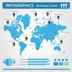 Infographic. population of people. vector.
