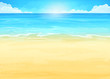 Illustration background with ocean and beach - 67660967