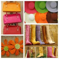 colorful fashion collage