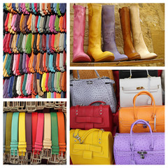 colorful accessories display