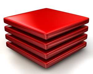 Red layers Icon