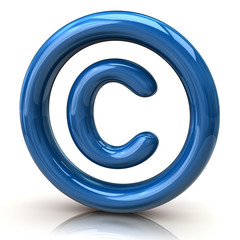 Blue copyright icon