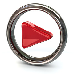 Red play icon