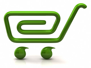 Simple green shopping cart