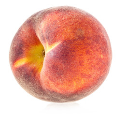 Fresh peach isolated on white background