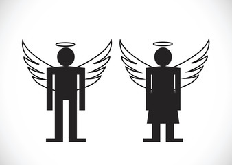 Pictogram  Angel Icon Symbol Sign