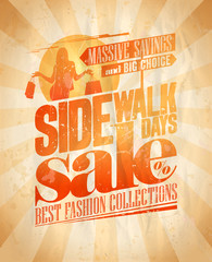 Sidewalk sale days design.