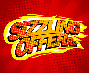Sizzling offer sale design.
