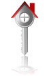 key house real estate business vector illustration