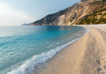 Myrtos Beach (Greece,  Kefalonia, Ionian Sea).