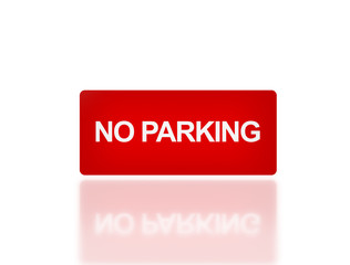 rectangle signage of NO parking