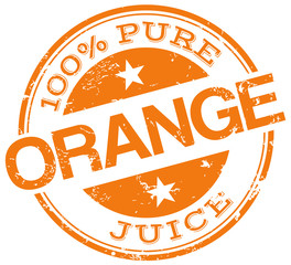orange juice stamp