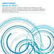 Abstract vector blue background with circular elements