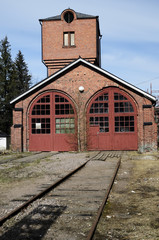 old brick building locomotive depot