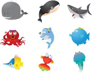 Water fish animals