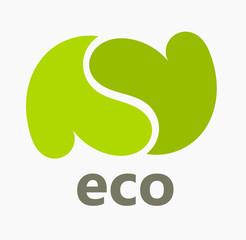 Eco hearts symbol