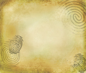 Grunge detective background with fingerprints