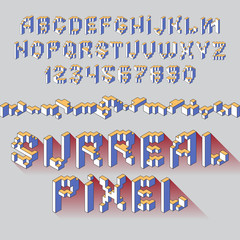 surreal cube alphabet