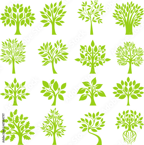 Green Tree set I poster
