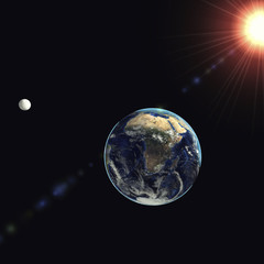 3d illustration earth globe