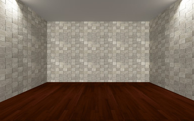 empty room wall tile