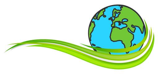 Erde Welle grün