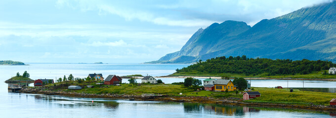 Sea summer view (Norway, Lofoten). Panorama.