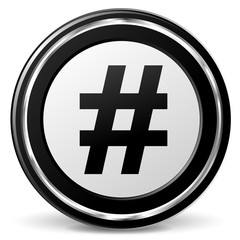 Vector hashtag icon