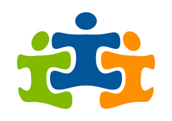 partnership success logo, education play & learn