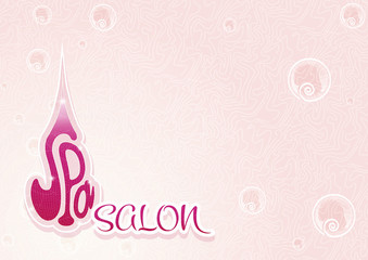 Spa salon cover pink and violet color horizontal landscape templ