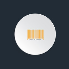 Isolated bar code vector.