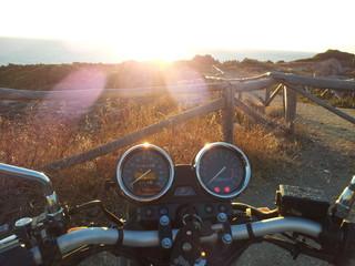 Sosta al tramonto