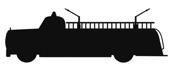 retro firetruck silhouette