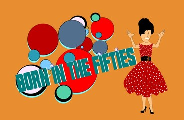 born in the fifties background