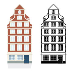 Barockes Stadthaus Vektor Illustration