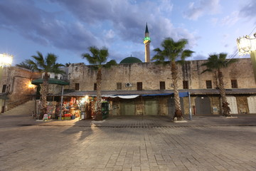 Acre old city( also Akko ) at Mosque of Al-Jazzar in Western Gal