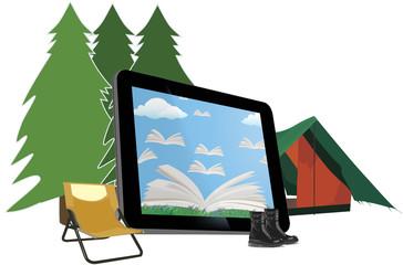 lettura in campeggio