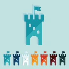Flat design: fortress